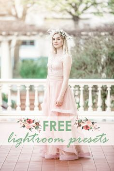 Free LightRoom Presets Available along with preset bundles for portraits, weddings & more.