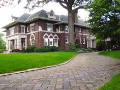 Second Home of Henry Ford in the Boston-Edison Neighborhood of Detroit, Michigan USA