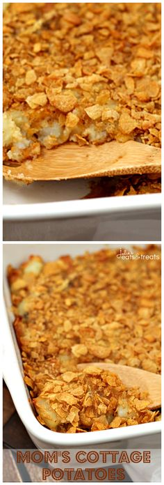 Mom's Cottage Potatoes ~ An Old Family Favorite! Homemade Potato Casserole Loaded with Potatoes & Cheese!