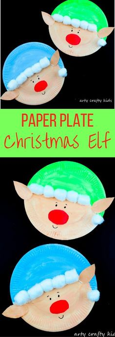 Arty Crafty Kids   Christmas Craft   Paper Plate Christmas Elf Craft   Super cute and easy paper plate Elf Craft for kids! #christmas #christmascraft #kidschristmascraft