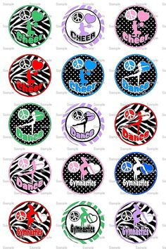 Cheer Dance Gym Bottle Cap Images 4x6 Bottlecap by designsbyPM, $2.00