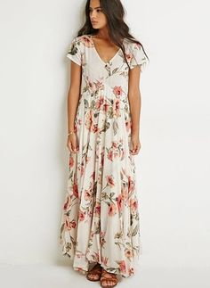FOREVER 21 Raga Tropical Getaway Maxi Dress, love th is look, just not sure if it works for me. Look Boho, Summer Outfits, Summer Dresses, Beach Dresses, Boho Fashion, Womens Fashion, Floral Fashion, Dress Fashion, Fashion Clothes
