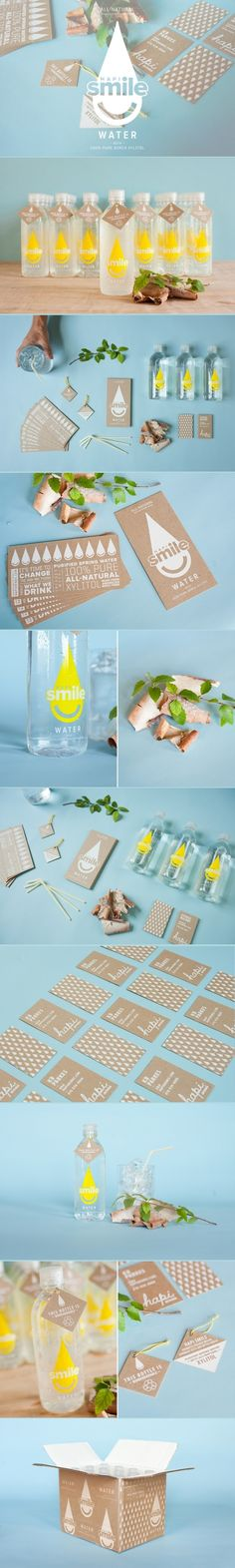 Hapi Smile Water. Water that brings happy smile to your face. #branding #identity #design