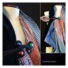 Gianmarco Russo - stola gioiello - limited edition - velluto e seta - Made in italy