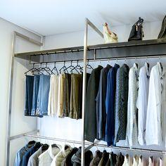 Bespoke rails for a bespoke dressing room. Visit our website for more ideas.