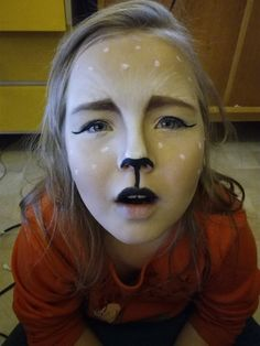 fawn makeup practice for Halloween