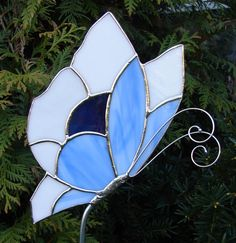 So Blue Butterfly Garden Stake by theglassmenagerie on Etsy, $18.00