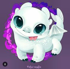 Fúria da luz  filhote (bebê) Httyd Dragons, Dreamworks Dragons, Cute Dragons, Toothless And Stitch, Toothless Dragon, Disney Kunst, Disney Art, Kawaii Drawings, Disney Drawings
