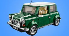 The brick version of the auto industry's cutest car reflects the original's character with a British racing green exterior, white roof and racing stripes.