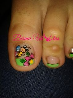 Pedicure Nail Art, Pedicure Designs, Toe Nail Designs, Fancy Nails, Love Nails, Pretty Nails, Beautiful Nail Designs, Beautiful Nail Art, Nails For Kids