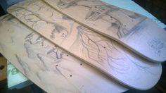handdrawn longboards by Henk de Bruin / Icecold.cool