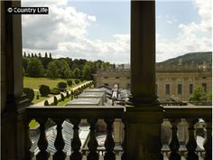 The view from the theatre tower (belvedere) at Chatsworth House. Not Used CL 17/08/2011