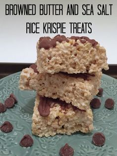 These treats are so much better than your regular rice krispy treats. Just by changing one little ingredient your rice krispy treats are even more delicious, Browned Butter and Sea Salt Rice Krispie Treats!