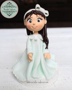 Girl cake topper  100% hand made $37 Christening, Cake Toppers, My Etsy Shop, Disney Princess, Handmade, Etsy Shop, Handmade Gifts, Hand Made, Disney Princesses