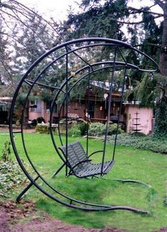 This beautiful and magical Crescent-shaped metal swing is a must-have for your garden. Its shape and design has enhanced its strength. We all want to have a swing in our front lawn or garden. This swing can be covered with fiber glass shade and can be painted in any color of your choice.