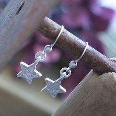 Tutti & Co Kassey Silver Star Drop Earrings|lizzielane.co.uk £12