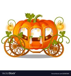 Vintage Horse Carriage Of Pumpkin With Florid Ornament Isolated On White Background. Sketch For A Poster Or Card For The Stock Vector - Illustration of card, fantasy: 128279117 Cinderella Pumpkin Carriage, Baroque Pattern, Horse Carriage, Vintage Horse, Scrapbook Stickers, Disney Fun, Cold Porcelain, Amazon Art, Fall Pumpkins