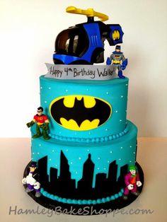 bolo de aniversário do tema Batman
