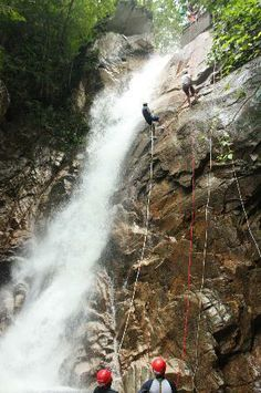 Puerto Vallarta, Mexico.  I repelled this waterfall and have pictures to prove it.  Tons of fun!!