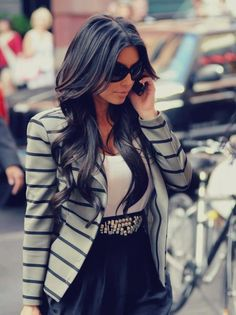 Dress blazer hair and glasses...love