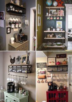 Dicas e inspirações para organizar o cantinho do café em casa                                                                                                                                                                                 Mais