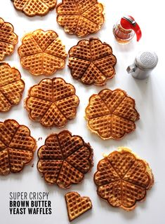 Brown Butter Yeast Waffles
