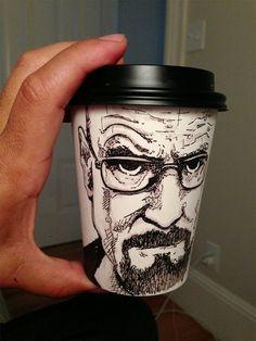 Breaking Bad Coffee Cup art by Miguel Cardona Heisenberg Art 79fd21259b132