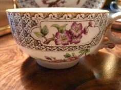 Antique Worcester Cup Saucer for Richard Briggs Boston