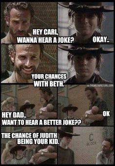 Hey Carl wanna hear a joke? Meme