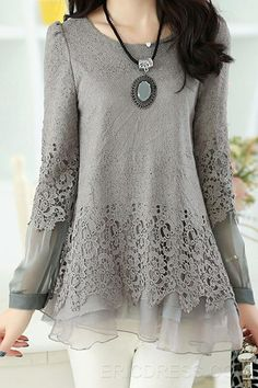 Hermosa sugerencia para un blusón cómodo y elegante.