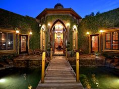 1608 Hudson Pointe Drive, Sarasota, FL 34236: One of a Kind European Castle in the heart of Sarasota.  Built as a castle, you enter through large wooden doors to a drawbridge over your very own moat pool with waterfall fountains and towers on either side containing the master and guest suites. The Downtown Sarasota castle dazzles with old European aesthetics and the comforts of modern living. One of the legendary homes of Sarasota, part dream and part fantasy. #harrypotter #realestate…