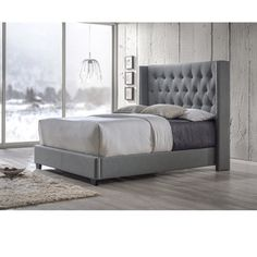 Shop for Baxton Studio Katherine Contemporary Espresso Button-tufted Grey Upholstered Bed. Get free shipping at Overstock.com - Your Online Furniture Outlet Store! Get 5% in rewards with Club O!