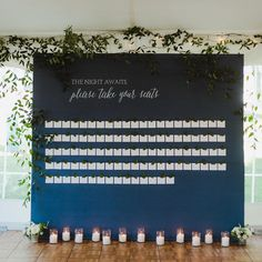 Clean, elegant & fabulous!  Loved designing this statement escort card wall for Meg & Zach's September wedding! ✨Photo: @jilldevriesphotography || Event Design & Escort cards: @inesandmarieevents || Custom hand-lettering: @whitebuffalodesignage || Escort card Calligraphy: @mbcalligraphy || Floral Design: @parsonageevents || Venue: @cornmanfarms #escortcards #escortcardwall #eventdesign