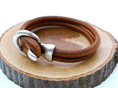 New Dude Bracelet Simple Leather Bangle Mens Leather by amyfine, $38.00