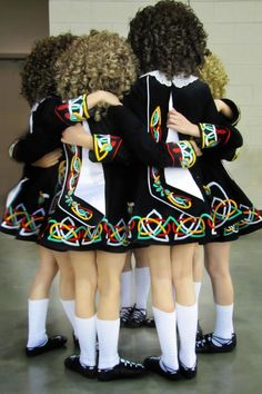 Irish dancing. It's not about the fancy dresses. The wigs. Or the trophies and medals. But, about this. Friendships. The people you dance with become your family. You Irish family:)