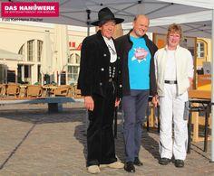 Tag des Handwerks in Stralsund, Malerbetrieb Gabriele Witte und Zimmerer Herr Kipp