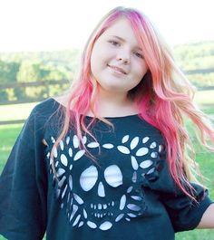 halloween, boy, girl, tween, teen, cutout, shirt, clothing, diy, handmade, diy, fashion, skull, wings