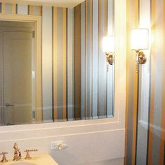 Striped Powder Bath | Modern Masters Metallic Paint | Project by Jeremy Stanger