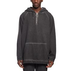 Fit over hoodie sweatshirt from the F/W2016-17 Off-White c/o Virgil Abloh collection in black