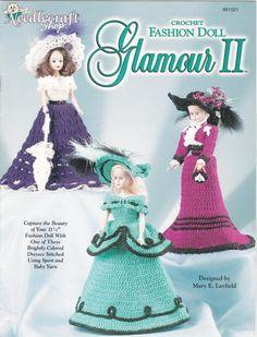Crochet Fashion Doll Outfits Crochet Patterns - Glamour II - the Needlecraft Shop 991021