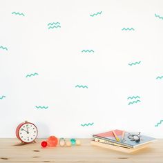 You don't have to be a surfer, sailor or sea explorer to enjoy these wild waves. With these self-adhesive wave decals you can easily create your