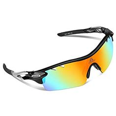 0c8649d3fc HODGSON Polarized Sports Sunglasses with 5 Interchangeable Lenses for Men  Women Cycling Baseball Running Glasses