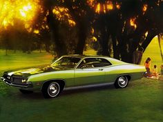 My first car was this one in green...1971 Ford Torino 500 Hardtop Coupe muscle classic