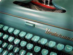 seafoam typewritter