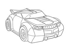 Bumblebee car coloring pages for kids, printable free - Rescue bots