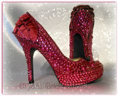NEW LOOK Customised hot pink heels with pearls & crystals UK 4 Great condition