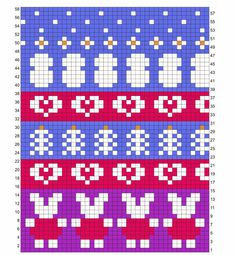 Hønsestrikk - chickenknitting Tapestry Crochet Patterns, Fair Isle Knitting Patterns, Fair Isle Pattern, Knitting Charts, Knit Patterns, Beading Patterns, Knitted Hats, Cross Stitch, Crafts