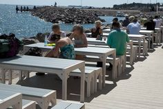 UPM's innovative composite decking material UPM ProFi Deck was on show at the SavetheC Baltic Sea Pavilion in Hernesaari near Helsinki during summer The impressive terrace was built from UPM ProFi Deck in Sunny Beige. Decking Material, Boat House, Composite Decking, Baltic Sea, Helsinki, Pavilion, Beaches, Terrace, Innovation
