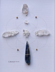 WALL ART Feng Shui Crystal Healing Grid Sacred by FeatherMedicine, $45.00