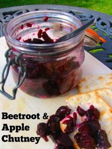 Beetroot and apple chutney